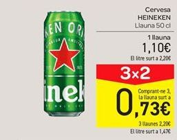 Oferta de Cerveza Heineken por 1.1€