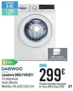 Oferta de Lavadoras Daewoo por 299€