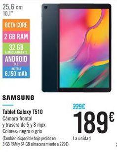 Oferta de Tablet galaxy T510 Samsung por 189€