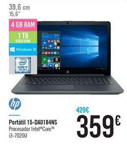 Oferta de Ordenador portátil HP por 359€