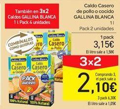 Oferta de Caldo casero de pollo o cocido Gallina Blanca por 3.15€