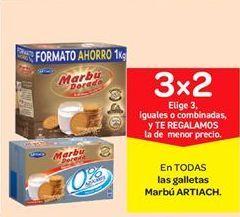 Oferta de Galletas Marbú Artiach por