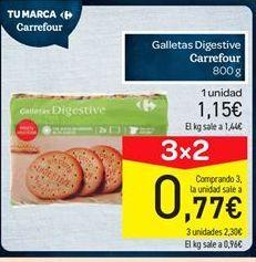 Oferta de Galletas Digestive carrefour por 1.15€