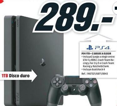 Oferta de PS4 Sony por 289€