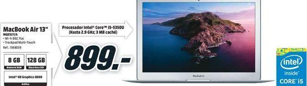 Oferta de MacBook Air Apple por 899€