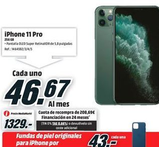 Oferta de IPhone 11 Apple por 1329€