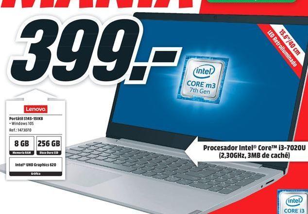 Oferta de Ordenador portátil Lenovo por 399€