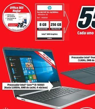 Oferta de Ordenador portátil HP por 555€