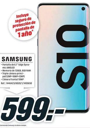 Oferta de Samsung Galaxy S10 por 599€