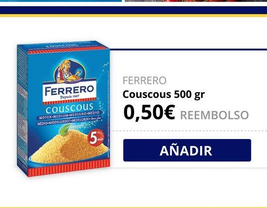 Oferta de Cuscús Ferrero por
