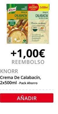 Oferta de Crema de calabaza Knorr por