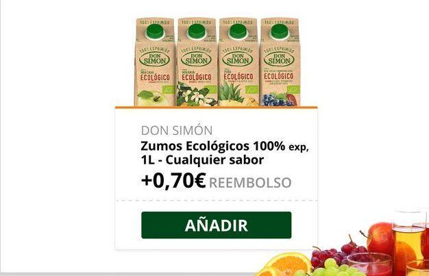 Oferta de Zumo ecológico Don Simón por