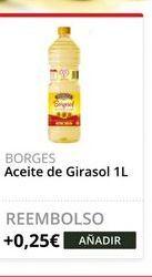 Oferta de Aceite de girasol Borges por