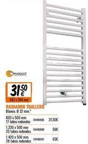 Oferta de Radiador toallero por 31.5€