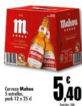 Oferta de Cerveza Mahou por 5.4€