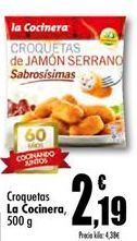 Oferta de Croquetas La Cocinera por 2.19€