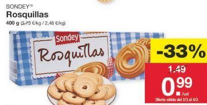 Oferta de Rosquillas sondey por 1€