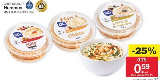 Oferta de Hummus chef select por 0.59€