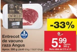 Oferta de Entrecot por 6.03€