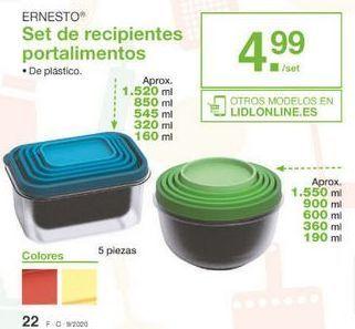 Oferta de Porta alimentos ernesto por 4.99€