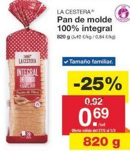 Oferta de Pan de molde La Cestera por 0.69€