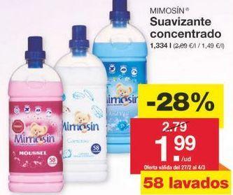 Oferta de Suavizante Mimosín por 2.01€