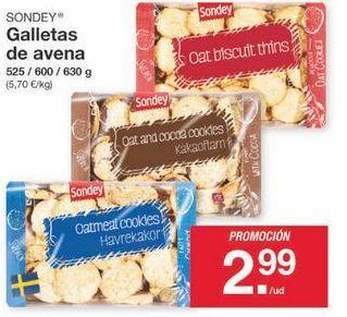 Oferta de Galletas de avena sondey por 2.99€