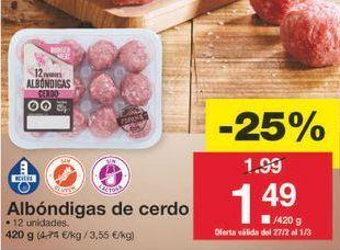 Oferta de Albóndigas por 1.49€
