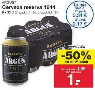 Oferta de Cerveza Argus por 1.49€