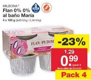 Oferta de Flan Milbona por 0.99€