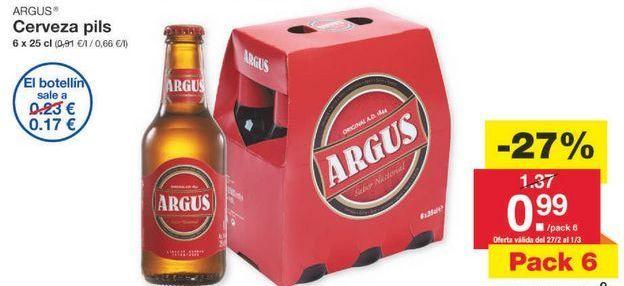 Oferta de Cerveza Argus por 1€