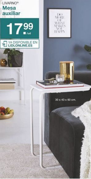 Oferta de Mesa auxiliar Livarno por 17.99€