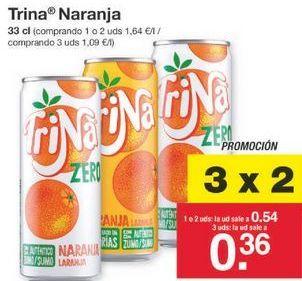 Oferta de Refresco de naranja Trina por 0.54€
