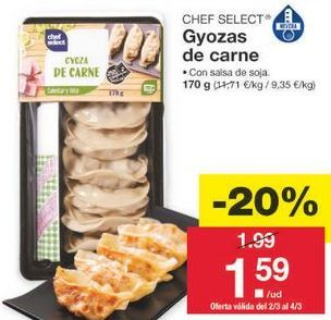 Oferta de Empanadillas chef select por 1.59€