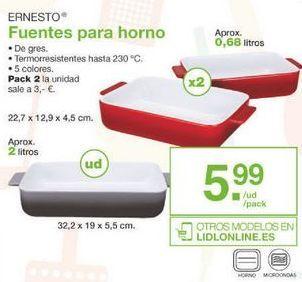 Oferta de Fuente de horno ernesto por 5.99€