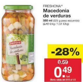 Oferta de Macedonia Freshona por 0.5€