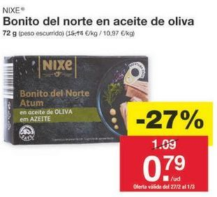 Oferta de Bonito del norte nixe por 0.8€