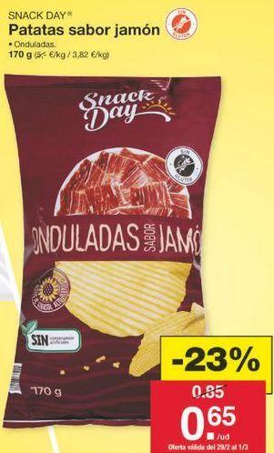 Oferta de Patatas fritas Snack Day por 0.65€