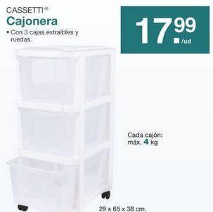 Oferta de Cajonera cassetti por 17.99€