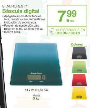 Oferta de Báscula de baño SilverCrest por 7.99€