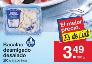 Oferta de Bacalao desmigado por 3.49€