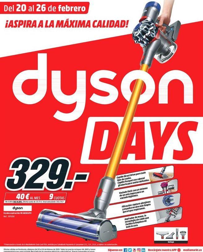Oferta de Aspirador escoba Dyson por 329€