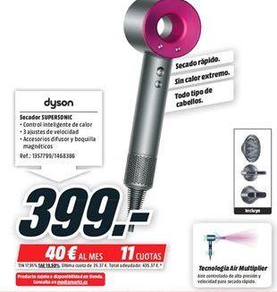 Oferta de Secador Dyson por 399€