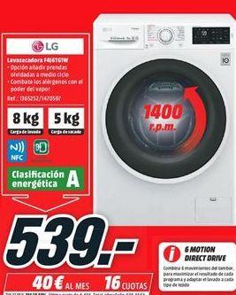 Oferta de Lavadora secadora LG por 539€