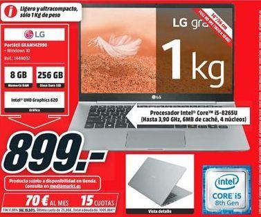 Oferta de Ordenador portátil LG por 899€