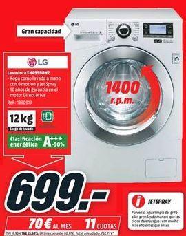 Oferta de Lavadora carga frontal LG por 699€