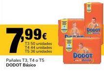 Oferta de Pañales Dodot por 7.99€