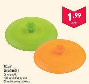 Oferta de Utensilios de cocina Toyma por 1.99€