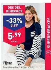 Oferta de Pijama mujer por 8.99€