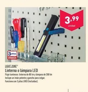 Oferta de Linterna led Light zone por 3.99€